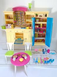 mattel barbie kitchen furniture sink refrigerator oven food table