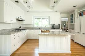 White Beadboard Kitchen Cabinets White Beadboard Kitchen Cabinets Gorgeous Kitchen With Stacked