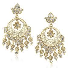 beautiful earrings buy meenaz ear rings for in traditional gold plated pearl