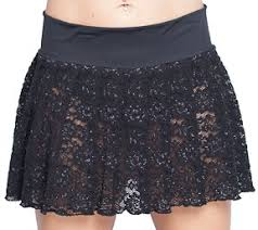 lace skirt pleated mini skirt plus size black lace style at