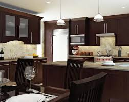 kitchen colors with dark wood cabinets outofhome