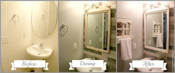 bathroom mirror makeover bathroom makeover before during amp after decorate mirror cool medicine cabinets small