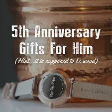 five year wedding anniversary gift ideas wood 5th anniversary gifts for him tmbr