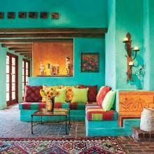 Colorful Interior Interior Design Mexican Art Wall Coloryellow Bohemian Home