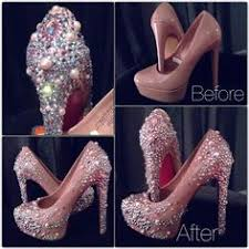 How To Decorate Shoes How To Flatback Rhinestones On Heel Diy Projects Pinterest