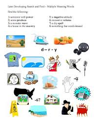 more multiple meaning word activities free language stuff