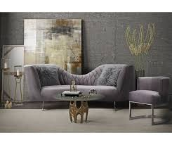 Grey Velvet Sofas Eva Grey Velvet Sofa Tov L6130 Tov Furniture
