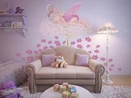 fairy flowers girls wall decals vdi1242en artpainting4you eu fairy flowers wall decals for baby girl with a beautiful fairy sleeping on a