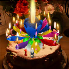 singing birthday delivery 1pcs amazing two layers with 14 small candles lotus happy birthday