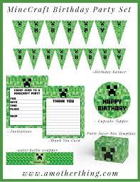 free printable birthday invitations minecraft free minecraft printable birthday bundle it s a mother thing