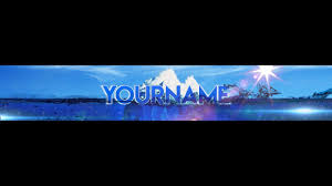 free epic youtube banner channel art template gimp and