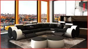 déco canapé noir canape noir blanc 77911 deco in canape d angle cuir noir et