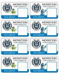 monsters university id card kid stuff