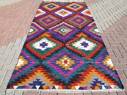 Colorful Kilim Rug Flooring Custom Size Kilim Rug Design For Home Flooring Decor