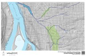 Maps Portland Oregon by T E R R A F L U X U S Hidden Hydrology U2013 Portland Series