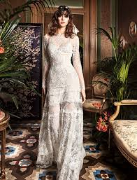 yolancris lace wedding dress with long sleeve bohemian style baobab