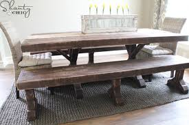diy dining table bench diy benches for my dining table shanty 2 chic
