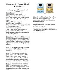 Challenge Directions Takedown Challenge Recipe 5 Spice Flank Kabobs Arena