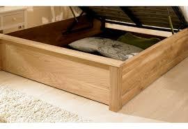 monaco solid oak ottoman storage bed