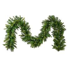shop vickerman indoor pre lit 25 ft l pine garland white led