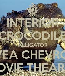 Interior Crocodile Alligator Interior Crocodile Alligator I Drivea Chevrolett Movie Thearer