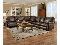 Sectional Sofas With Recliners And Cup Holders Simmons Upholstery 50981 Casual Three Piece Sectional Sofa With