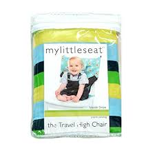 High Chair That Sits On Chair Amazon Com My Little Seat Travel Highchair Hudson Stripe