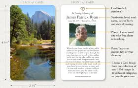 prayer cards memorial prayer cards