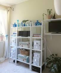 kids room storage shelf with bins as toys organizer for safety