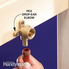 pex in new shower valve