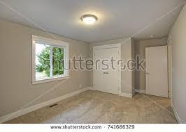 bright empty room one window beige stock photo 176526494