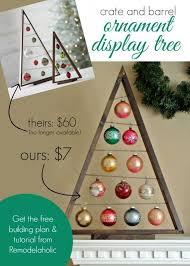 diy ornament display tree crates barrels and ornament