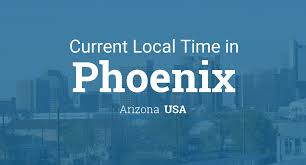 Map Of Us Time Zones by Current Local Time In Phoenix Arizona Usa