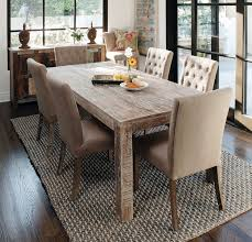 Reclaimed Dining Chairs Dining Room Rectangular Reclaimed Wood Dining Table With Tufted