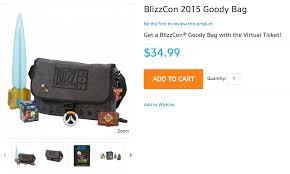 where to buy goodie bags ticket and blizzcon 2015 goody bag now available for pre