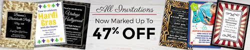 custom u0026 personalized birthday invitations shindigz