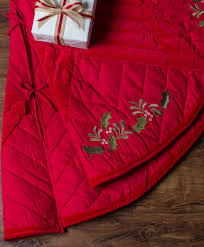 quilted noel christmas tree skirt tree classics