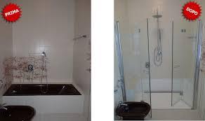 rimozione vasca da bagno trasformazione vasca in doccia brescia 8 ore senza opere murarie