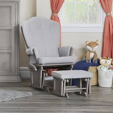 Baby Ottoman Baby Cache Vienna Glider And Ottoman Ash Gray Light Gray