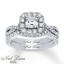 what are bridal set rings neil bridal set 1 1 2 ct tw diamonds 14k white gold for