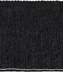 home decor trim signature series 4in black poly fringe joann