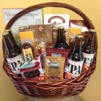 Cheese And Cracker Gift Baskets Custom Gift Basket Made With Beer Fruit Cheese Crackers And A