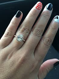 oval wedding rings show me your oval halo engagement rings weddingbee