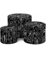 amazing deal on monarch 2 piece french script print ottoman off