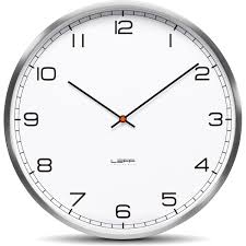 one25 wall clock stainless steel white arabic leff amsterdam