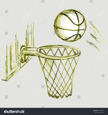 vector image basketball hoop ball stock vector 294638756