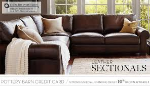 Pottery Barn Credit Card Logon Leather Sectionals U0026 Leather Sectional Sofas Pottery Barn My