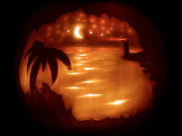 geeky pumpkin carving ideas beach scene pumpkin holiday creations pinterest beach scenes