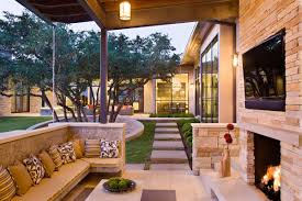 outdoor livingroom family home with outdoor living room and pool