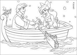 Disney Ariel And Eric Coloring Pages Getcoloringpages Com Ariel Color Page